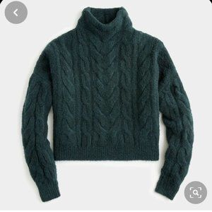 J. Crew Point Sur Cable Turtleneck Sweater